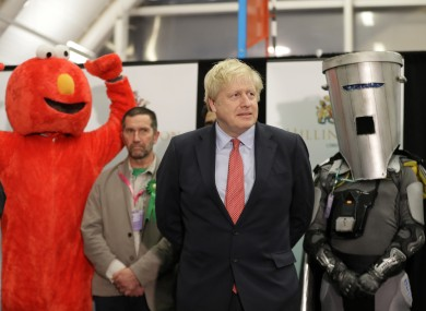 Boris Johnson at his constituency announcement early this morning
