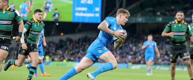 Garry Ringrose scored his second hat-trick of the season for Leinster.