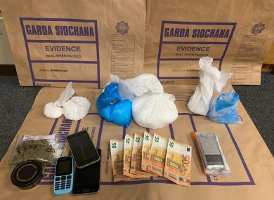Gardaí's haul after the search in Finglas