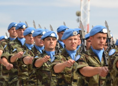 Irish troops stationed with UNIFIL in Lebanon (file photo)