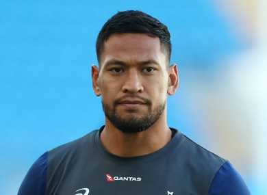 Moving on: Former Wallabies back Israel Folau.