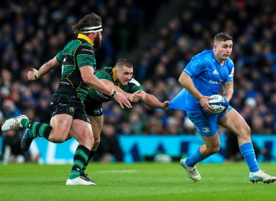 Jordan Larmour delivered a man of the match performance against Northampton.