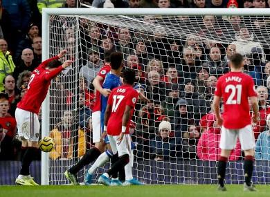 Victor Lindelof's own goal gave Everton the lead before Greenwood's second-half equaliser.