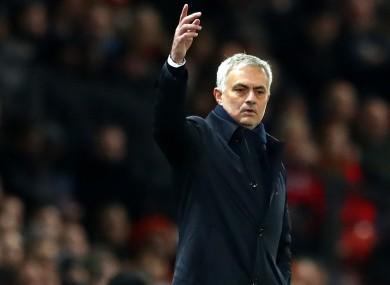 Tottenham head coach Jose Mourinho.