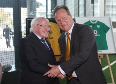 President Michael D Higgins during a trip to Australia.