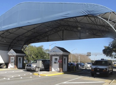 File photo of entrance to the naval base in Florida were the incident took place.