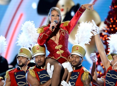 Mariah Carey performing in 2016.