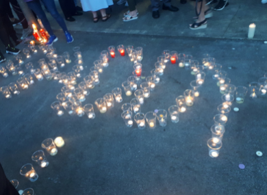 Friends organised a vigil for Paddy following the vicious attack.