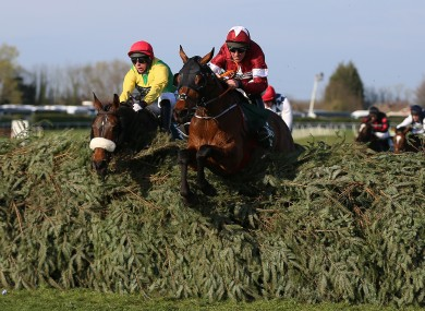 History maker: Tiger Roll en route to his second Grand National.