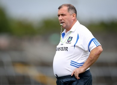 Seamus McEnaney, while in charge of the Monaghan minors in 2018.
