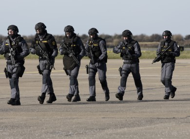 A gardaí and Defence Forces bilateral exercise, file photo.