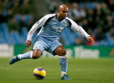 Sinclair during his playing days at Man City.