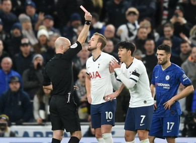 Spurs' Son Heung-min is sent off against Chelsea