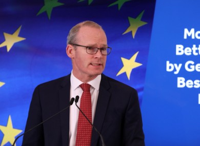 Simon Coveney says the next year will be dominated by Brexit.