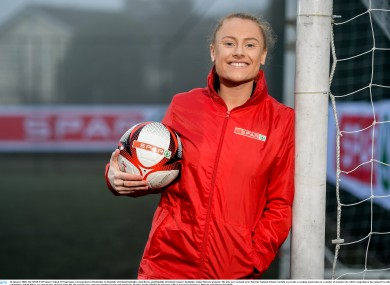 Amber Barrett was speaking at the launch of the SPAR FAI Primary School 5S programme for 2020.