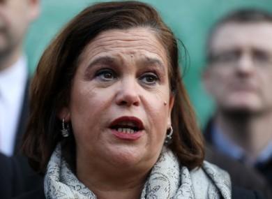 Sinn Féin leader Mary Lou McDonald.