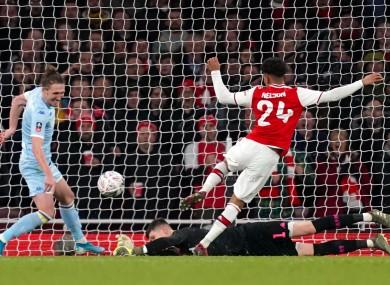 Reiss Nelson hit the winner for Arsenal.