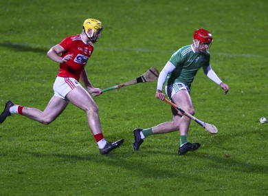Cork's Sean Twomey and Limerick's Barry Nash
