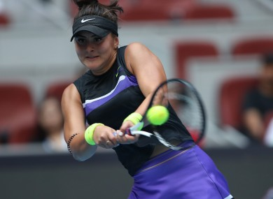 Bianca Andreescu at the China Open.