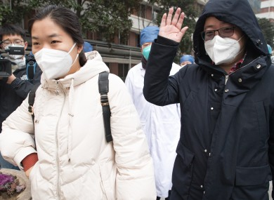 Medical workers who were diagnosed with the virus in Wuhan.