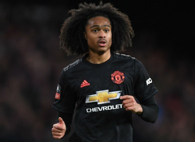 Manchester United youngster Tahith Chong.