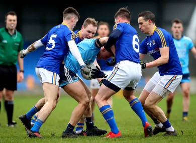 Dublin's Cian Murphy is surrounded by Longford players.