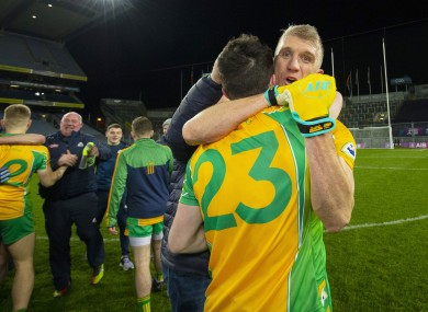 Kieran Fitzgerald celebrates Corofin's All-Ireland final victory.