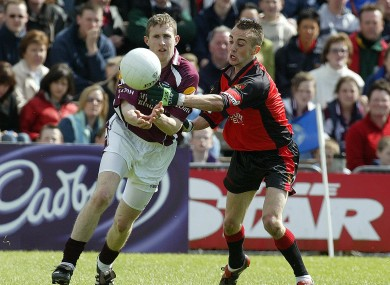 Gary Sice and Conor Laverty in opposition in the 2005 All-Ireland U21 final.