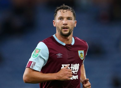 Danny Drinkwater during a rare appearance for Burnley.