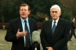 Seamus Mallon, former Northern Ireland Deputy First Minister, has died aged 83. Here he is pictured (right) with former Northern Ireland First Minister David Trimble before the inaugural meeting of the North/South Ministerial Council in 1999.