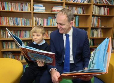 Minister Joe McHugh at St Malachy's Senior School Finglas in Dublin to announce the new fund