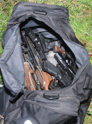 An image of the weaponary seized by gardaí.