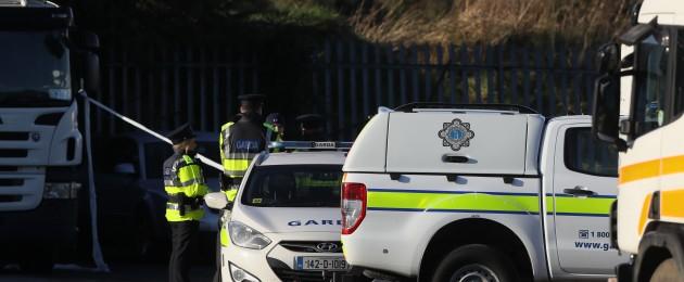 Gardaí at the scene of a shooting in Killeek Lane in the St Margaret's area of Dublin