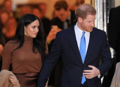 The couple are to 'step back' from royal duties.