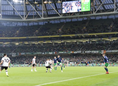View of Aviva Stadium during the Extra.ie FAI Cup Final match between Dundalk and Shamrock Rovers.