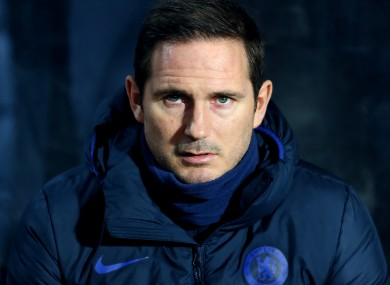 Frank Lampard during last weekend's FA Cup win over Hull.