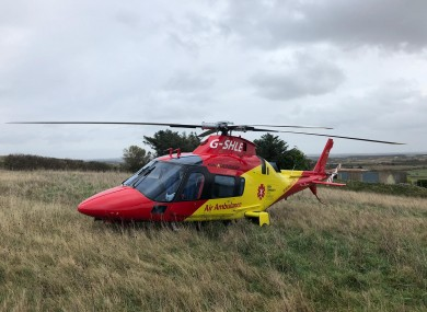 A file photo of the ICRR air ambulance.