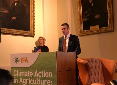 Joe Healy, outgoing president of the IFA.