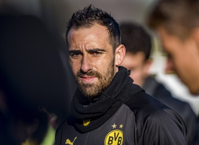 Paco Alcacer, pictured at his final Borussia Dortmund training session.