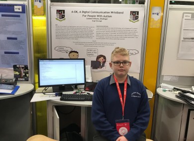 Hugh Murtagh at the BT Young Scientist & Technology Exhibition this week