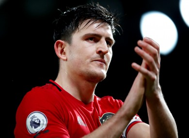 Manchester United captain Harry Maguire.