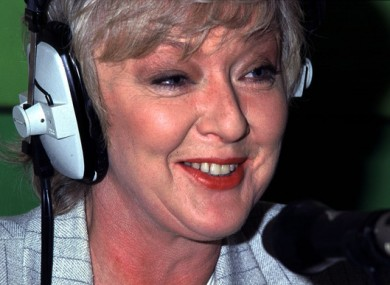 The death of Marian Finucane was announced today.