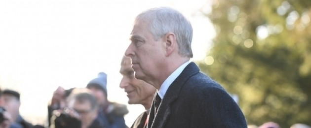 Prince Andrew arriving at a church service in Norfolk last week.