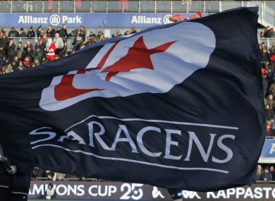 Saracens, the reigning English and European champions.