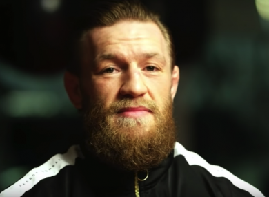 Conor McGregor during his interview with ESPN.