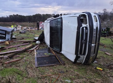 Damage from Friday night' severe weather in Bossier Parish, Louisiana