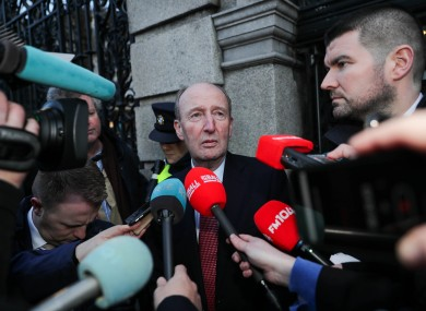 Shane Ross speaks to the media after today's meeting with Uefa.