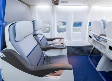 File photo of business class seats on a plane.