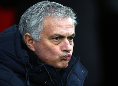 Mourinho: Spurs lost ground in the top-four race.