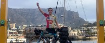Tomás Mc an t-Saoir in Capetown after completing the Africa cycle last May.